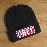 Perfect OBEY Hip Hop Women Men Beanies Winter Knit Hat Cap