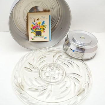 Vintage Musical Revolving Cake Stand, Plays Happy Birthday, New Old Stock, With Box and Vintage Card, 1950s
