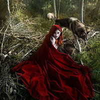Red Riding Hood Cape Cloak in red velvet