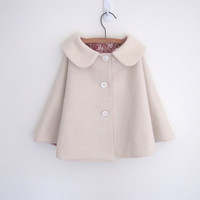 Girls wool cape