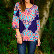 Seen It All Blouse, Navy