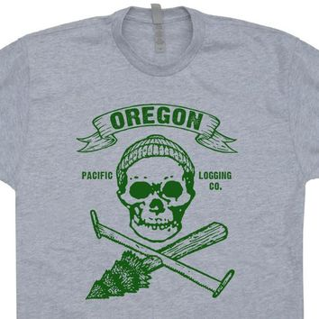 Oregon Lumberjack T Shirt Vintage Logging T Shirt Cool Carpentry Shirt