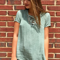 Take Away Top- Sage Green