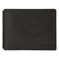 Men's Fossil 'Mercer' Traveler Wallet - Black
