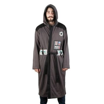 Star Wars Darth Vader Men's Hooded Bathrobe with Belt
