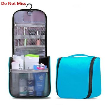 Do Not Miss Travel make up bag women waterproof cosmetic organizer bag Hanging Wash Toiletries Beauty men Travel Toiletry Bag