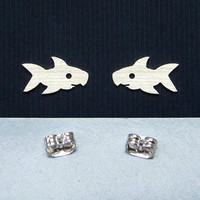 925 sterling silver earstuds, silver sharp silhouette earrings, tragus and cartilage pins