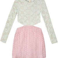 Shakuhachi Lace Block Cutout Dress