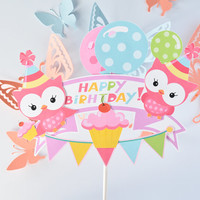 Owl Cake Centerpiece, Owl Baby Shower, Owl Birthday Decoration, Owl Birthday Party, Owl Cupcake Centerpiece, Owl Party Supplies