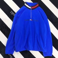 Tommy Hilfiger Woman Men Fashion Cashmere Zipper Top Sweater Pullover1
