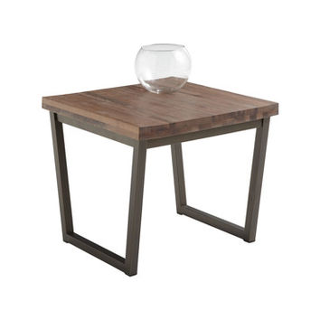 Sunpan Porto End Table In Distressed