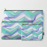 Ocean Summer Chevron Carry-All Pouch by ALLY COXON | Society6