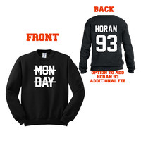 Niall  SALE ! crossed out Monday sweater mondays suck   Ultra soft Crewneck Sweatshirt or hoodie -  sweater Vinyl hand made 562WB
