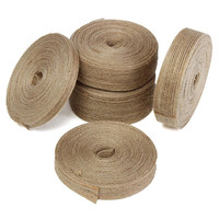 Natural Wedding Jute Hessian Burlap Ribbon 1cps 10M Rustic Floristry Decor Wrapping Vintage Craft DIY Accessories Supplies