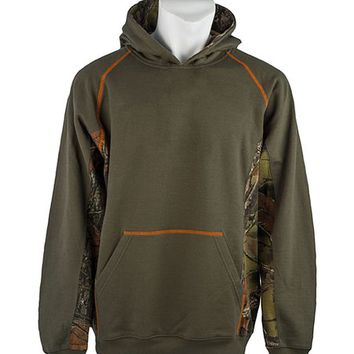Trail Crest Olive & Camo Hoodie - Boys