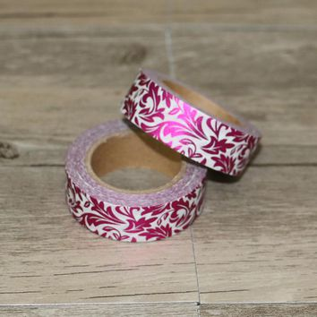 Rose Purple Flower Foil Washi Tape Japanese Paper Stationery Scrapbooking Decorative Tape Adhesive Tape Cute Adesiva Decorativa