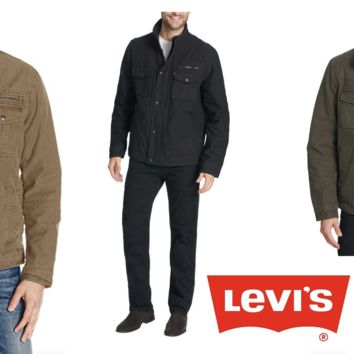 ✅NEW! Levi's® Men's Washed Cotton Two Pocket Sherpa Lined Trucker Jacket,VARIETY/COLOR/SIZE