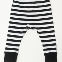 Baby Leggings | Black Striped Cuffed Leggings for Baby | Riley Blake Toddler/Baby Tights |Teegy Togs