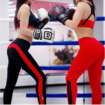 (eBay)2018 European and American hot style love peaches and buttocks splicing sport leggings.