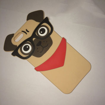 Fashion 3D Pug Case Silicone Shell Cover For APPLE iPhone 5 5s 6 4.7""