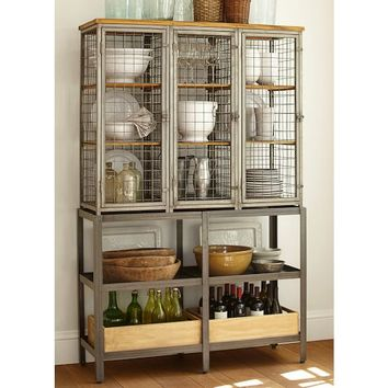 GRIDLEY CAGED STORAGE CABINET