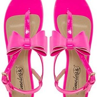 Timeless Bow Sandal at asos.com
