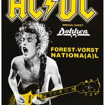 AC/DC Angus Young Eurotour '88 Poster 25x36