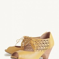 Jazz Heels In Mustard By Chelsea C