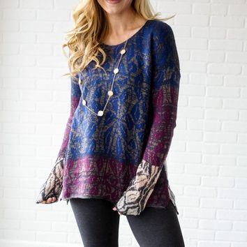 Multi-Color-Floral-Knit-Sweater