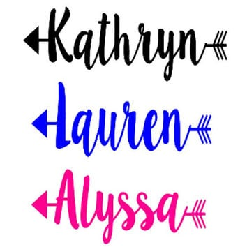 Arrow Name Decal, Yeti Cup Decal, Decal for Yeti Cup, Boho Decal, Name Decal, Decal for Her, Decal for Women, Yeti Cup Monogram