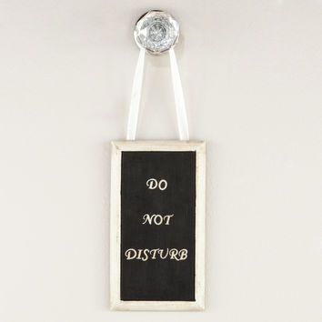 'Do Not Disturb' Bathroom Door Hanger - World Market