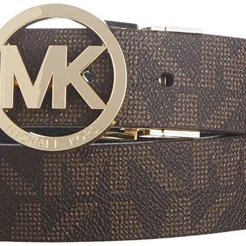 Michael Kors Mk Signature Monogram Belt and Buckle Reversible