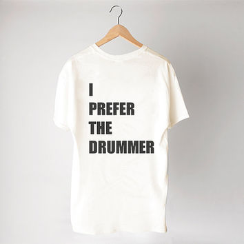 I prefer the drummer shirt - 5SOS - 5 Seconds of Summer - Cream/Unisex/Cotton Blend Fashion T- shirts - TAS-125