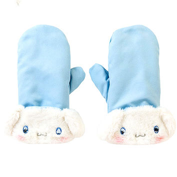 Buy Cinnamoroll Plush Fur Cuff Mittens with Jewel Eyes at ARTBOX