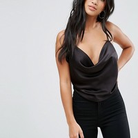 ASOS PETITE Backless Cowl Neck Top at asos.com