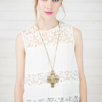 Glass Doors Lace Tank