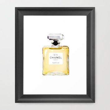 Chanel No. 5  Framed Art Print by Kellylr