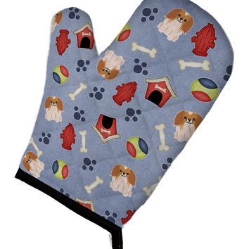 Dog House Collection Pekingnese Red White Oven Mitt BB2716OVMT