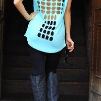 Don't Cross My Back Top: Mint | Hope's