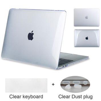 Crystal transparency & Matte White Pro 13 15 case with/t Touch bar A1706 A1708 A1707 For Macbook Air 13 Retina 13 inch