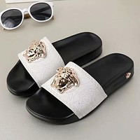 Versace Woman Men Fashion Medusa Slipper Sandals Shoes