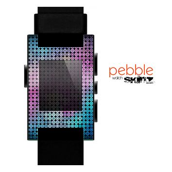 The Vibrant Colored Abstract Cells Skin for the Pebble SmartWatch for the Pebble Watch
