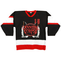 Cannibal Corpse Men's  Hockey Jersey Black