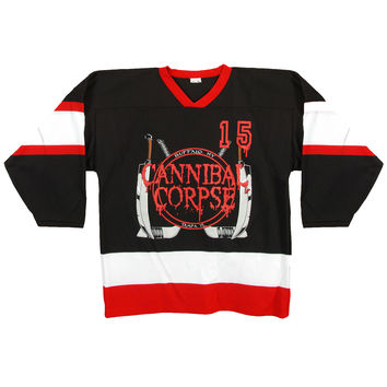 Cannibal Corpse Men's  Hockey Jersey Black Rockabilia