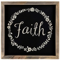 Faith Wood Sign with Floral Wreath Design | Shop Hobby Lobby