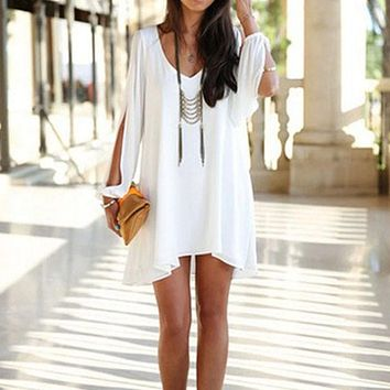 Short White Cocktail Summer Mini Party Dress