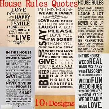 House Rules Family Sticker