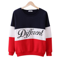 COCKCON Autumn and winter women Long Sleeve fleeve hoodies printed letters Different women casual sweatshirt hoody sudaderas