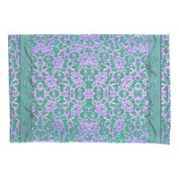 Lavender and Sage Green Lace Print Pillowcase