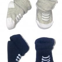 Boys 2 Pack of Sneaker Baby Booties by Carters
